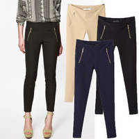 2014 Winter Solid Women Skinny Pencil Pants Slim Ankle Length Trousers High Waist Elastic Casual Capris HHP14911