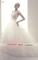 The bride wedding drevestido de noiva sses new 2015 European and American luxury complex Gulei Si trailing wedding dress sexy