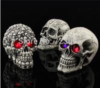 1pcs Halloween shine resine skull cranium Skull Heads CrossBones Skullcandy model for friend gift research party,Free Shipping