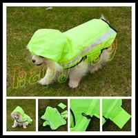10pcs fashion cut Pet raincoat dog raincoats Pet reflective vest dog clothes poncho Medium Small dog raincoat S\M\L size