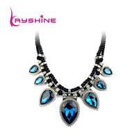 2014 New Created Gemstone Jewelry Hot Sale Chain Necklace For Women with Luxury Graceful Big Shiny Rhinestone