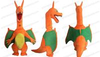 Pokemon Mega Evolved Charizard x mascot costume dinosaur mascot adult size EVA foam free shipping