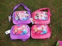 2014 Real Mochila Feminina Mochila Frozen School Bags for 12 Pcs/lot Anna Elsa Olaf Prince for Kids Children Bag free Shipping