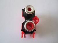 TWO  RCA SOCKET ,AV2-8.4-13 ,,AV JACK,Outlet jack,Customized welcomed
