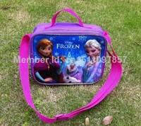 Frozen Lunch Bags Frozen Messenger Bags 24*20*9cm frozen bags for children Lunch Bags Frozen Princess Elsa