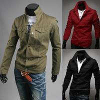 2014 new men's fashion leisure slim jacket