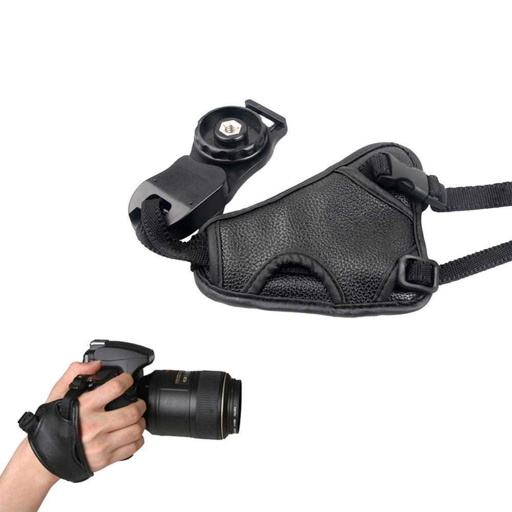 High Quality PU Leather Soft Hand Grip Wrist Strap for Nikon Canon Sony SLR/DSLR Camera(China (Mainland))