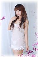 Black Pink Edge Vest Lingerie Women Sexy Lingerie Lace Underwear 7001-B1
