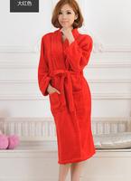 New Arrival Thickening Women Coral Fleece Bath Robes Sleepwear Pajamas, Ladies Lounge Thermal Bathrobes Robe Nightgown Nightwear
