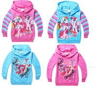 New Pony Hoodies 2014 New Autumn Children Outerwear My Little Pony Children Hoody Girl Clothing Wholesale Free Shipping In Stock