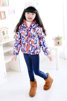 Children Camouflage Printed Down Jacket Zip Hooded Children Girl& Boy Outdoor Coat free shipping