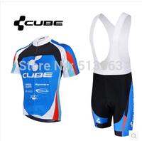 High Quality 2014 Cube 2 Styles Cycling Clothing Cycling Jersey+Cycling Bib Shorts Bike Bicycle Clothing Cycling