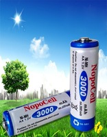 FREE  shipping 100pcs/lot GREEN high capacity AA 3000mAh NiMH Rechargeable Batteries Battery Cell new sealed