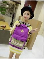 Travel Backpack folk style color Backpacks Travel Hiking Bags 2014 New Women Cartoon Cat Ear Shoulder Bag Backpack Schoolbag