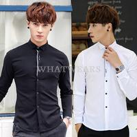 Free Shipping 2014 Autumn Fashion Men's Slim Fit Long Sleeves Shirt Cotton Blend Casual Shirts  [3 11-0305]