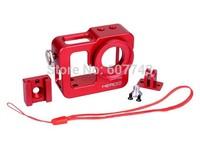 Metal Aluminium Red Protective Case Shell Housing for GoPro HERO 3 / HERO3+