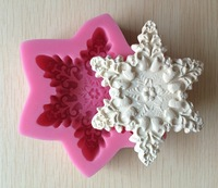 Snow Flake shape Chocolate Candy Jllo 3D silicone Mould Cartoon Figre/cake tools Soap Mold Sugar craft Cake Decoration C315
