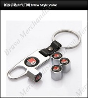4caps car automobile auto truck wheel tire tyre valve cap cover covers chrome caps sss brand logo emblem badge keychain keyring