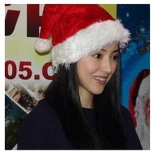 Free Shipping 1 Piece Christmas Hat Caps Santa Claus Father Xmas Cotton Cap Christmas Gift Retail christmas gift(China (Mainland))
