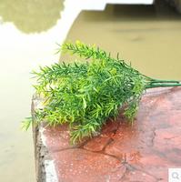 Artificial Silk Plants Simulation Pearl Grass Plastic green grass Home decorations  MA1589