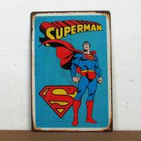 Christmas gift Cartoon Superman Hero iron painting Metal Plate Children Room Wall Decor M-201