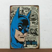 Christmas gift Cartoon BAT Man Hero iron painting Metal Plate Children Room Wall  hanging Decor M-202