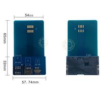 Free Shipping 1PCS Smart Card Pinboard Adapter Converter For SIM / Micro SIM / Nano SIM Cards