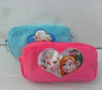 New Arrival Frozen Pencil Bags Flannel ELSA Queen Stationery Package Soft Pen Bags Frozen Stationery NO.9004060 In Stock