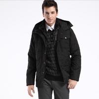 Men's winter Hoodies quilted jacket warm fashion male puffer overcoat parka Outwear Winter cotton sport hooded down coat