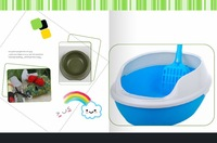 Free Shipping!2014 one set of three for Hot Sell Easy Use Practical Puppy cat Indoor Plastic Pet Toilet Pad Tray ,mouse,bowl