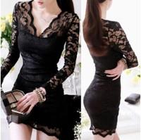 Free Shipping 2014 Sexy Women Dress Sizzling Sequin Deep Mesh O Neck Party Mini Dress Black One-piece Dress Plus Size NB83