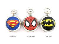 New Cartoon Superman Heroes series of enamel pocket watch wholesale fashion sweater chain  wholesale