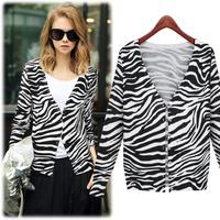 free shipping autuman new arrived 2014  women's knitted horse pattern sweater Fashion jackets women women coat