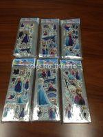 FREE SHIPPING!100pcs/lot (7*17cm) SPONGE FROZEN STICKERS/kids toys/DIY Adhesive paper game