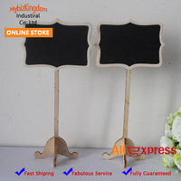 Free Shipping 100 x New Style Mini Wedding chalkboards on the stick Place holder For Wedding Party Christmas Decorations