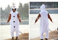 Animal Cosplay catoon Olaf Snowman Cos Pajamas Adult Women Men Unisex Flannel Onesie Party Costumes Halloween Dresses