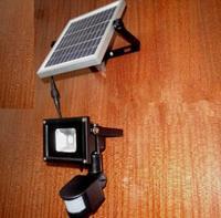 10W PIR Motion Sensor LED Spot Lighting Solar Powered Panel Outdoor Garden Path Wall Lights Flood LED Emergency Lamp Luminaria