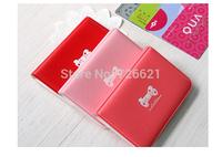 New Style Sweet Women Cartoon Bow Ribbon Bowknot  Card Case Credit ID Bank Card Bus Card Wallet Bag Card Holder Ladies Girls