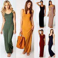 2014 Fashion Autumn & Summer Solid VESTIDO DE FESTA Maxi Dress VESTIDOS FEMININOS Sexy Club Casual Party Dress Long Beach Dress