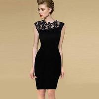 New Sexy 2014 Fashion Summer Elegant Women Vintage Floral Crochet Cocktail Bodycon Dress LC21644