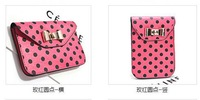 new hot candy color mini women's shoulder bag cute bow small phone bag  wave point fashion women's messenger bag