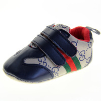 SanFu--2014 NWT OR077 baby boy kahkiand blue leather handmande first walkers shoes size 2 3 4 in us