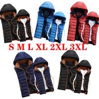Cool new 2014 men&Women sport jacket sleeveless hooded  vest outwear brand vest autumn coats 4 colors Wholesale vests