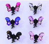 20PCS Rhinestone Flower Butterfly Claw Hair Clips Crystal Hair Pins for Girls Children Kids 17mmx25mm