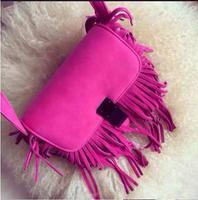 Hot Sale Fashion classics Shoulder Bag Vintage Tassel Cross Women Messenger Bags Popular Women Stylish Free Shipping