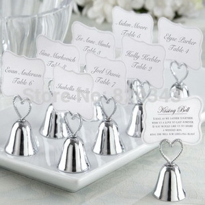 "High Quality""Kissing Bell"" Place Card Holder Good For Wedding Decoration Gift and Accessories+100pcs/LOT+FREE SHIPPING(China (Mainland))"
