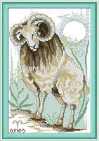 A Goat Pattern Counted Cross Stitch 11CT 14CT DMC Cross Stitch Sets DIY Cross Stitch Kits for Embroidery Wall Decor Needlework