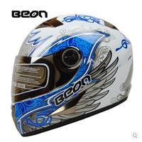 free shipping beon classic full face helmet winter helmet racing helmet international version motorcycle helmets[y02]