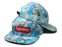 Supreme 5 Panel Hat camo Snapback hats army 2014 Brand New Adjustable mens womens baseball caps Free Shipping