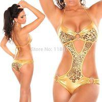 2014 Sexy women one piece swimsuit leopard print monokini swimwear fashion bodysuit bathing suits Biquini maillot de bain